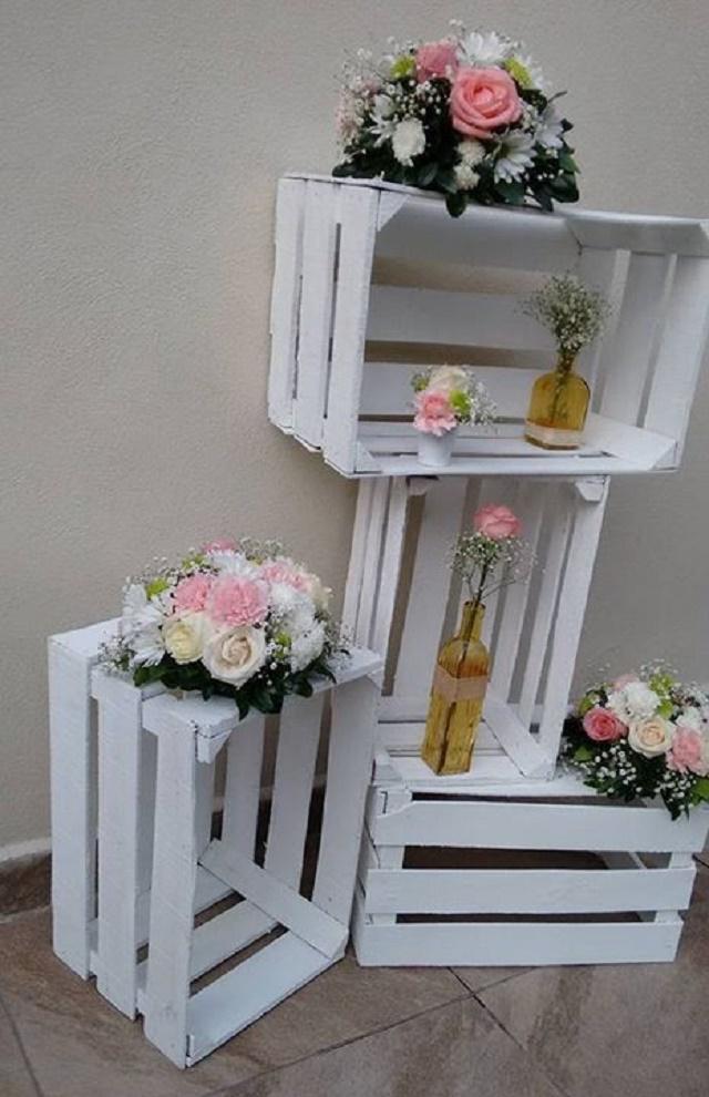Palets com flores