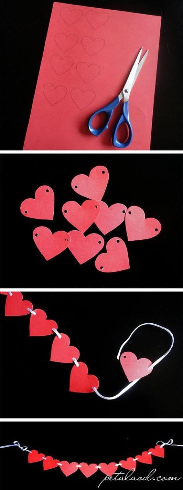Varal de corações