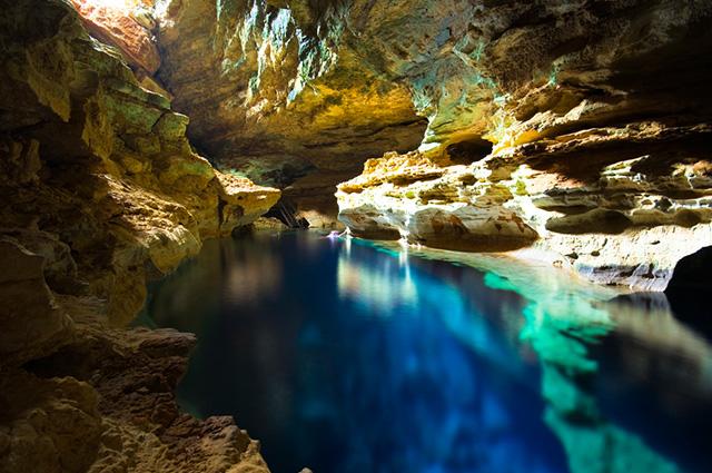 Foto do Lago Azul na Chapada Diamantina