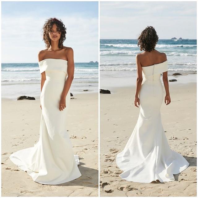 Vestido simples e branco