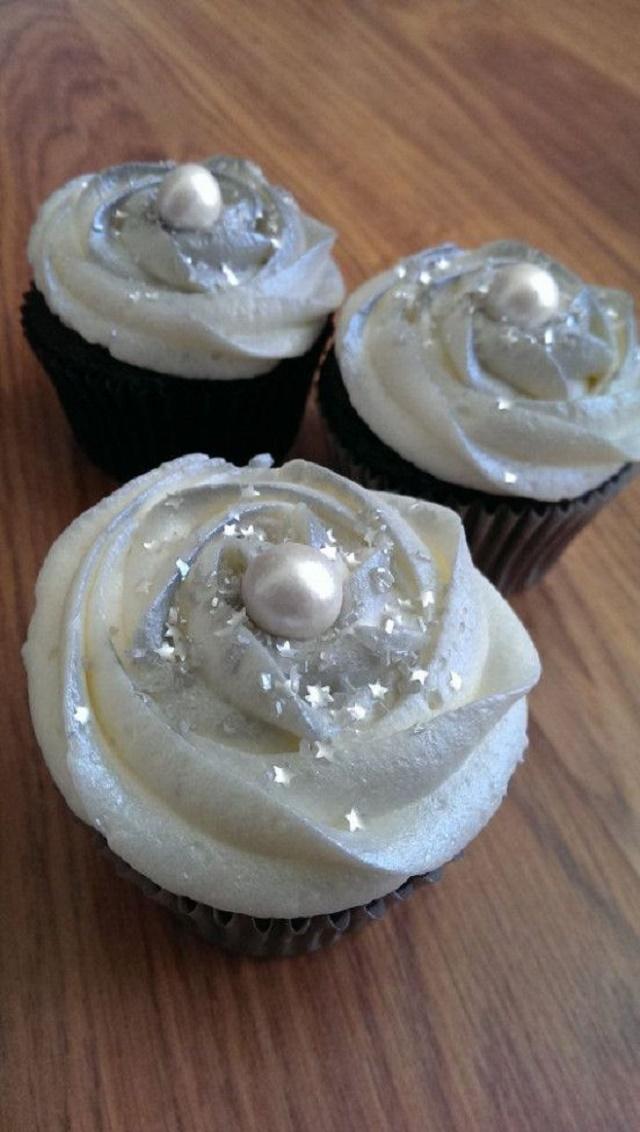 Cupcakes com pérola